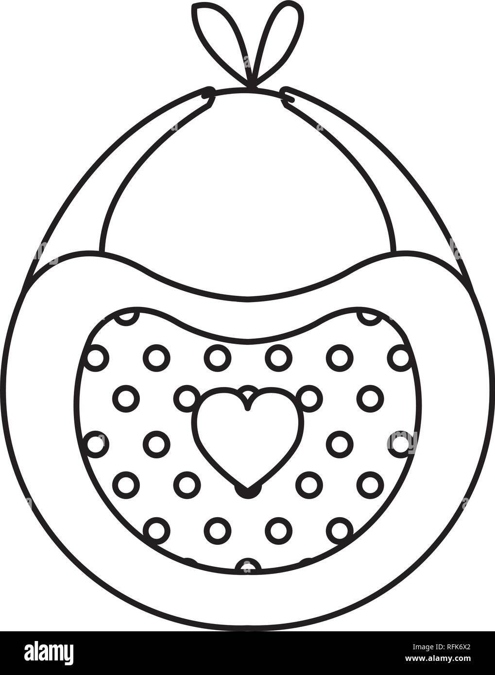 baby bib isolated icon - Stock Vector
