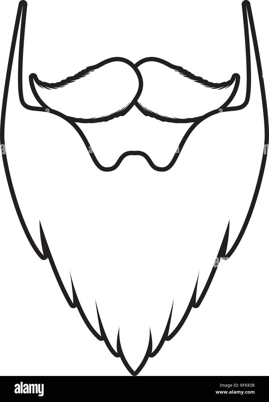 mustache and beard elf - Stock Image