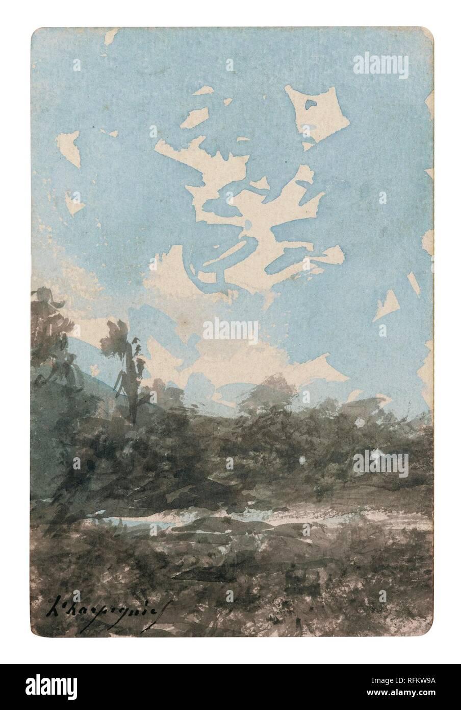 HENRI-JOSEPH HARPIGNIES ; LANDSCAPE.jpg - RFKW9A  - Stock Image