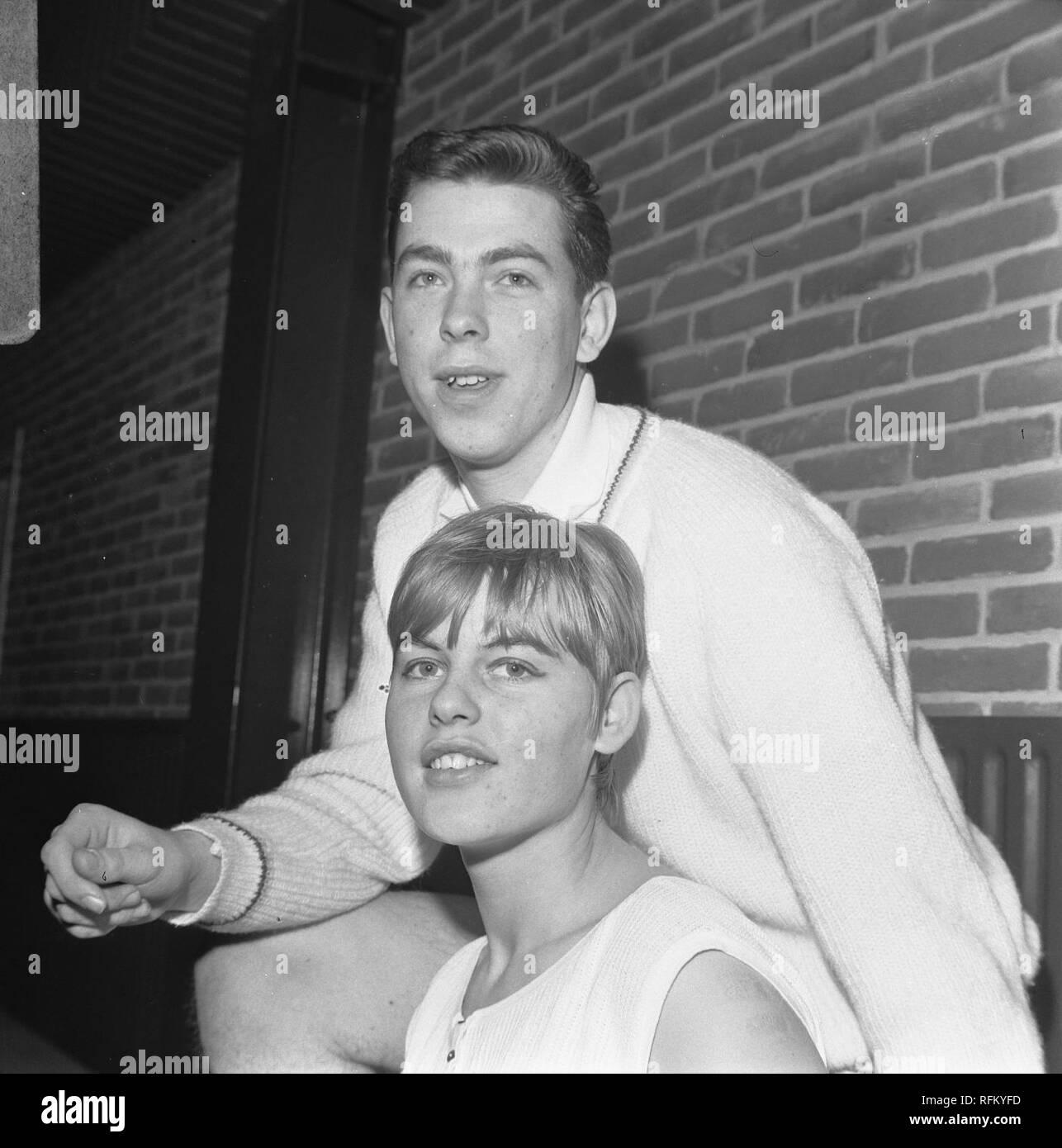 Badmintontoernooi te Haarlem, Agnes Geene en Huub van Ginneken beide kampioen, Bestanddeelnr 919-9836. - Stock Image