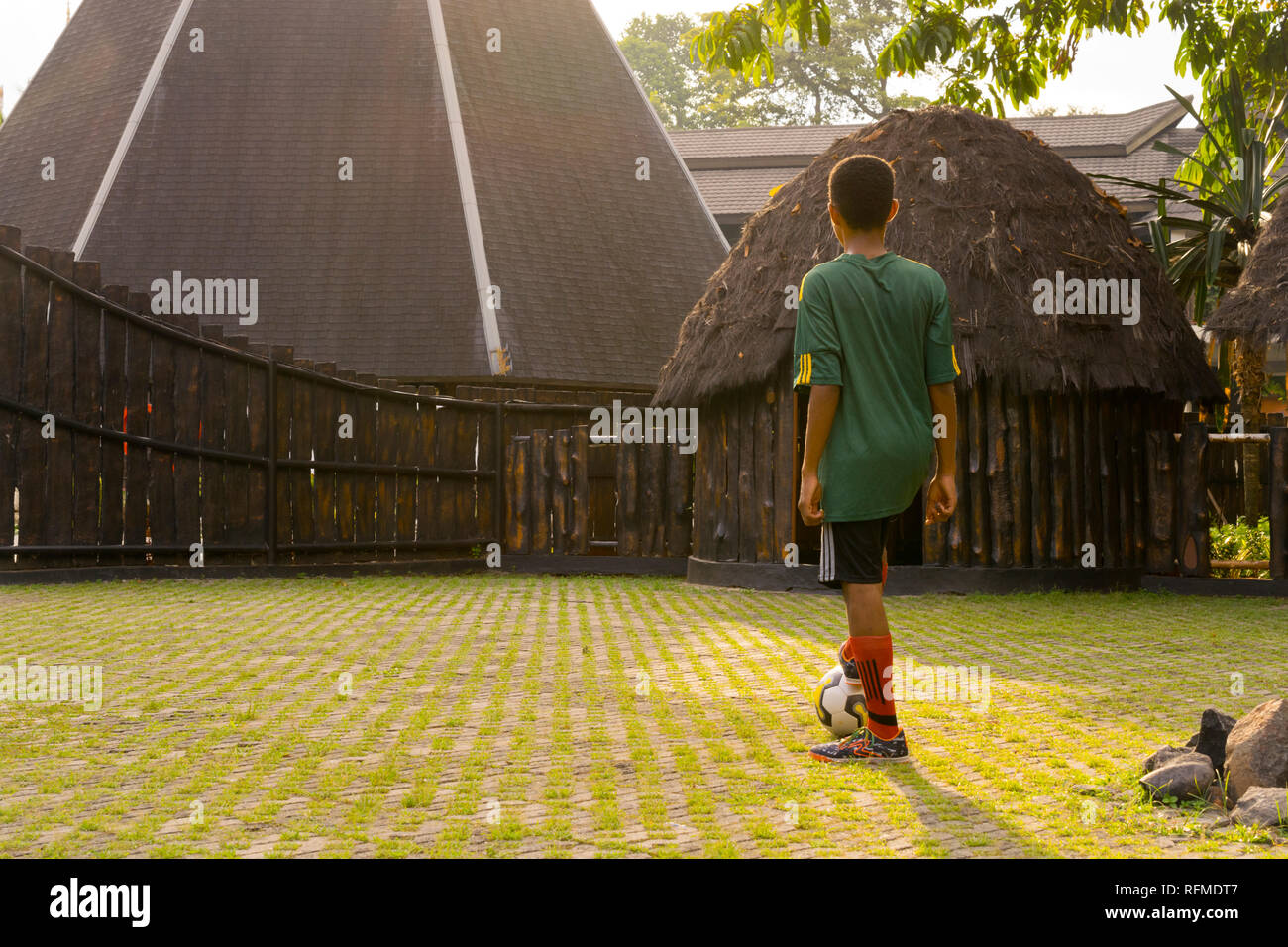 8.39, Papuan Boy, IndonesianBook - Stock Image