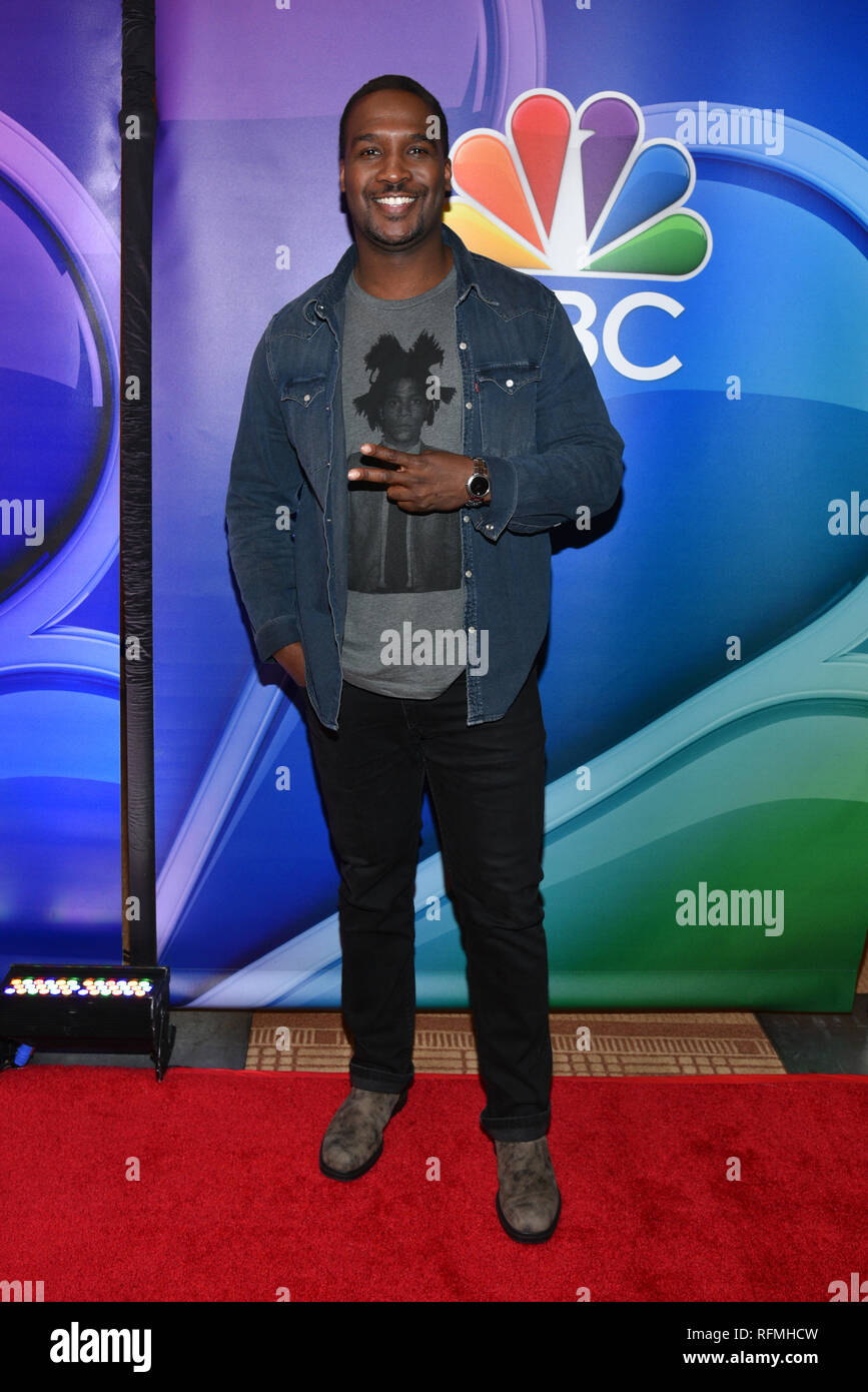 Jerod Haynes attends NBC's New York Mid Season Press Junket at Four Seasons Hotel New York on January 24, 2019 in New York City. Stock Photo