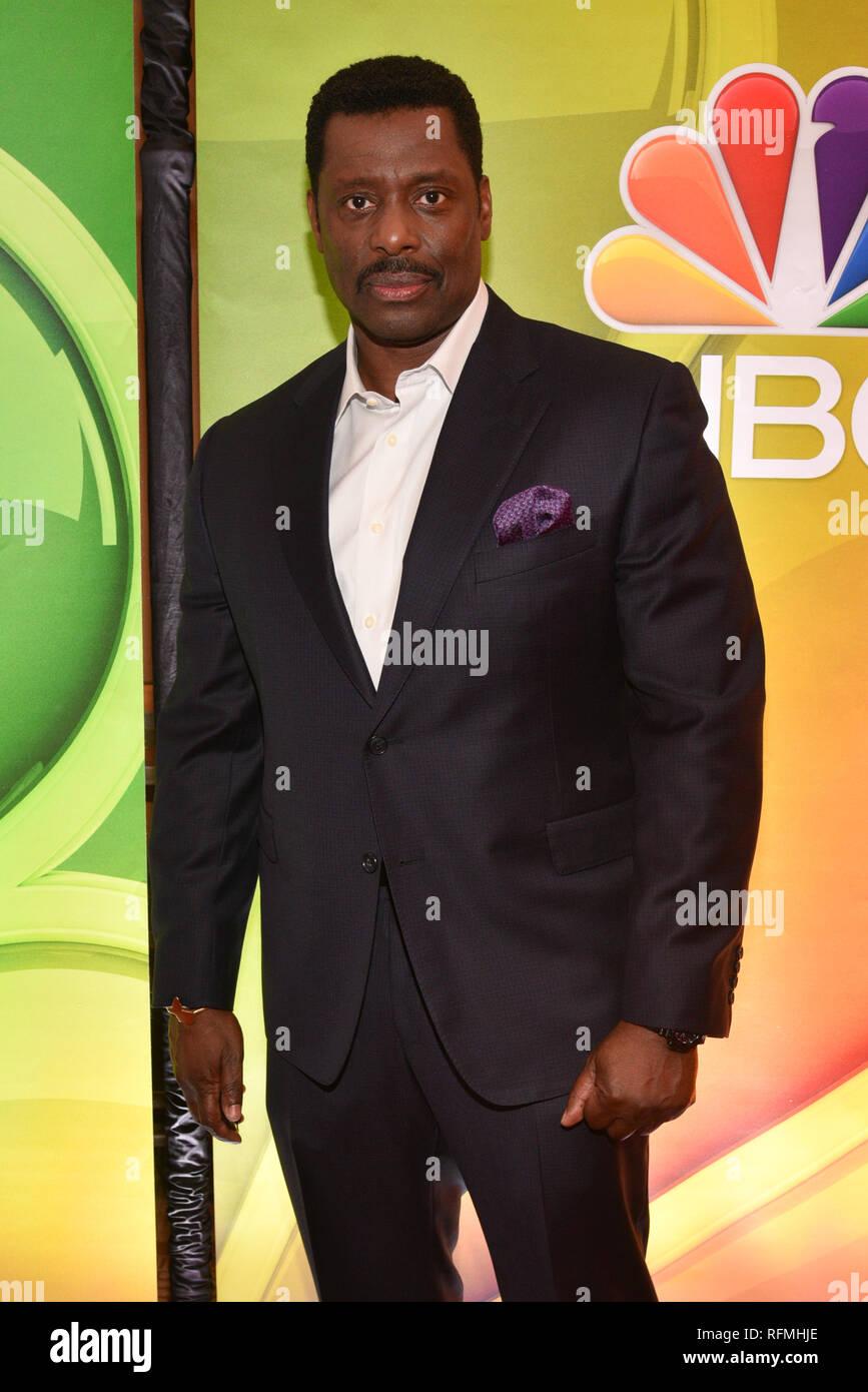 Eamonn Walker attends NBC's New York Mid Season Press Junket at Four Seasons Hotel New York on January 24, 2019 in New York City. Stock Photo