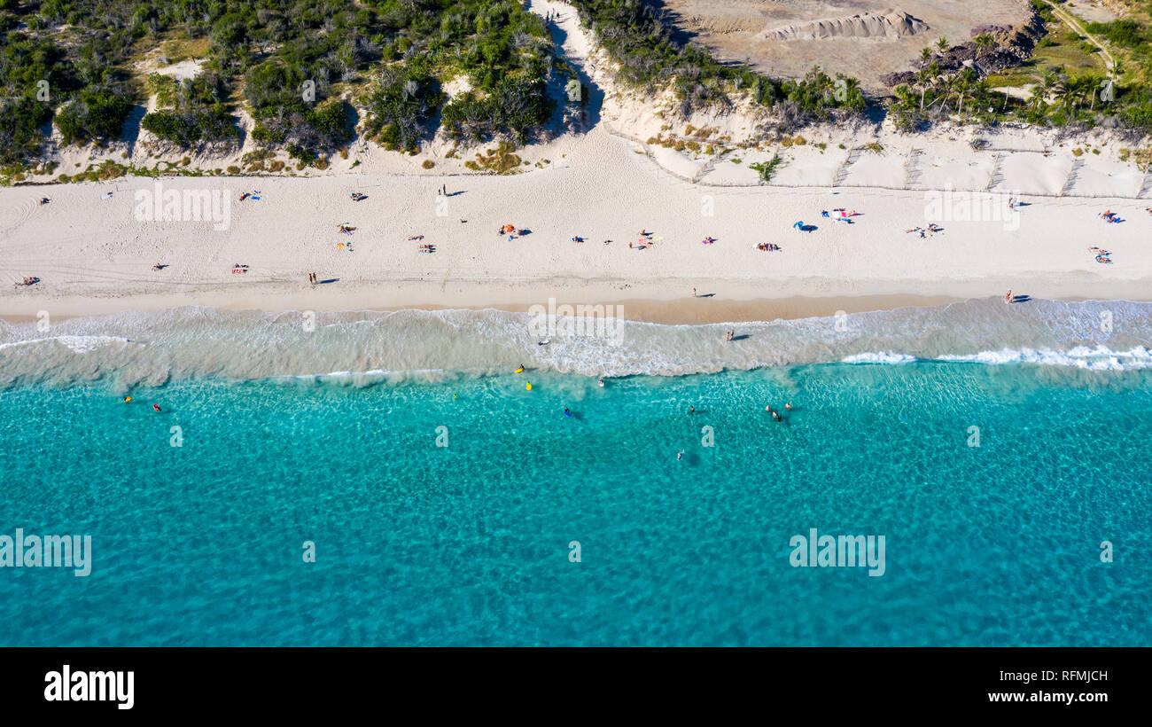 Anse de Grande Saline, or Salines Beach, Saint Barthélemy or  St Barths or St Barts, Caribbean Sea - Stock Image