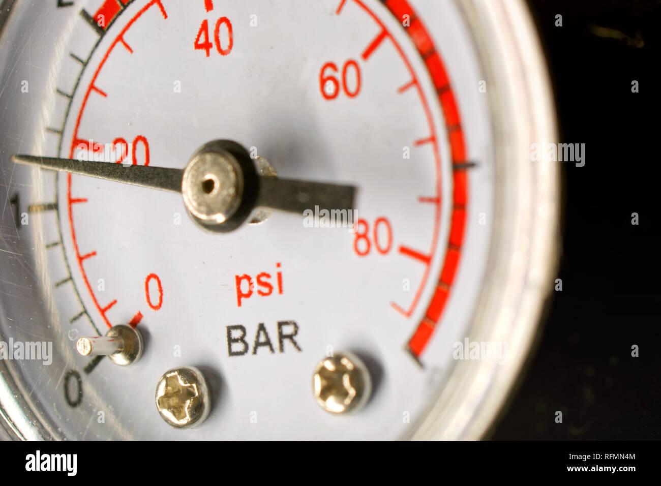 Pressure Gauge - Stock Image