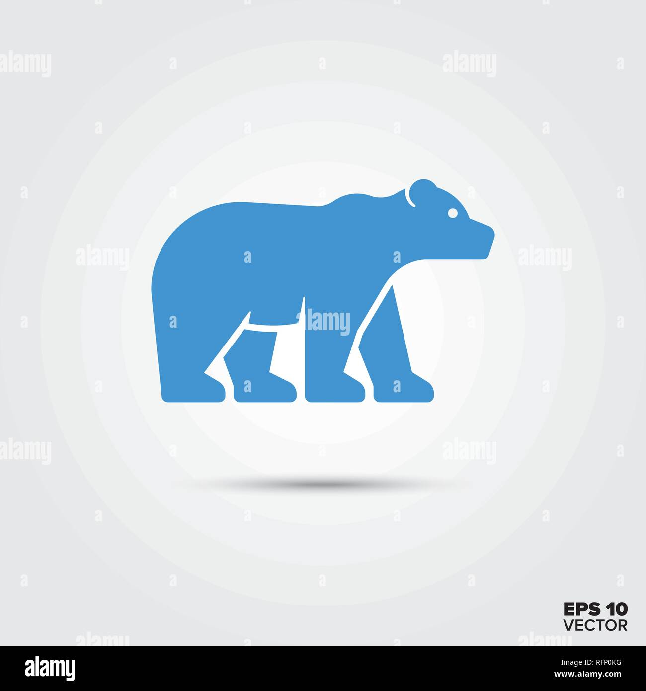 Polar bear icon, Global warming and endangered species symbol. EPS 10 Vector. - Stock Vector