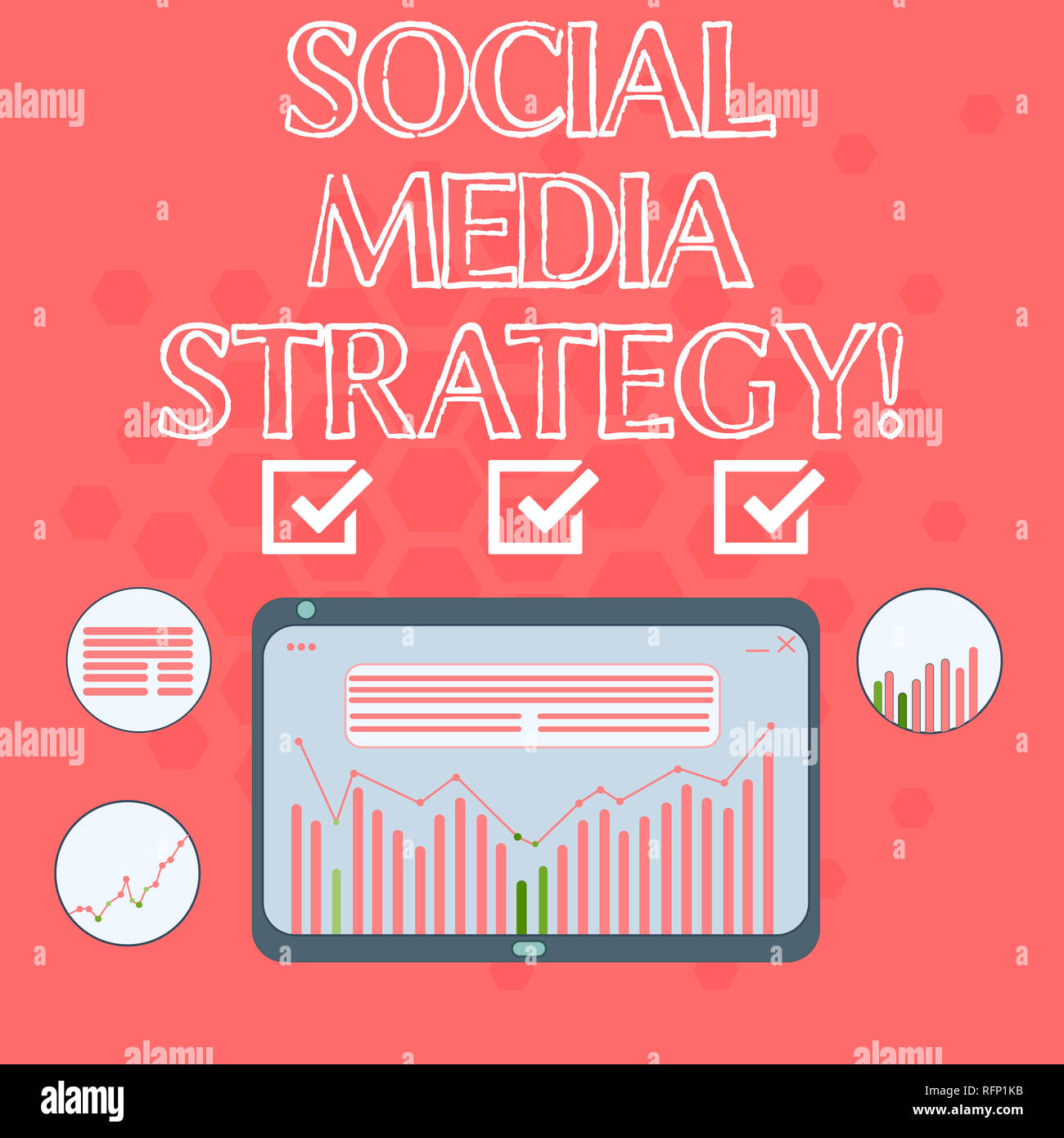 Text sign showing Social Media Strategy  Conceptual photo