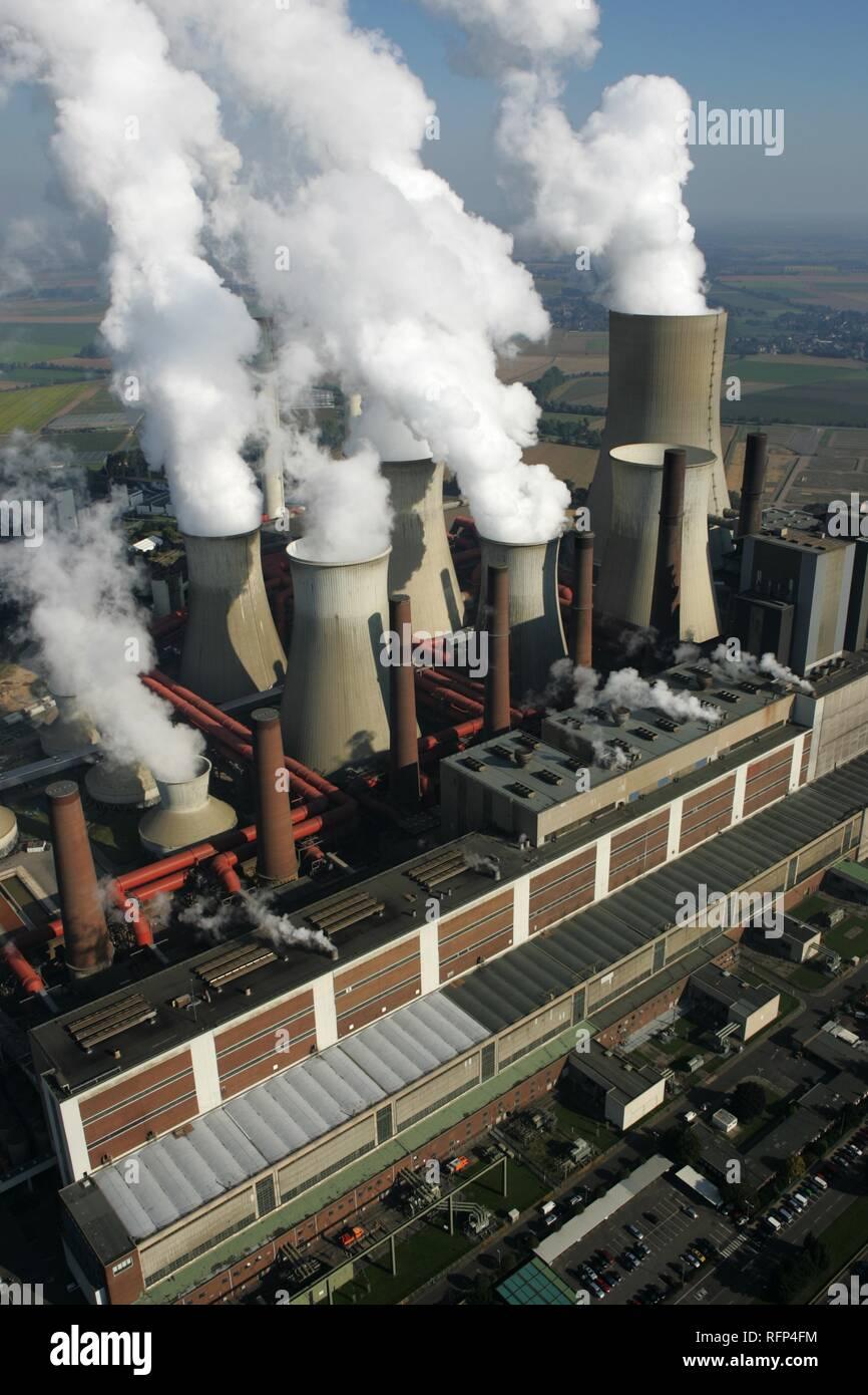 Brown coal power station Niederaussem of the RWE Power