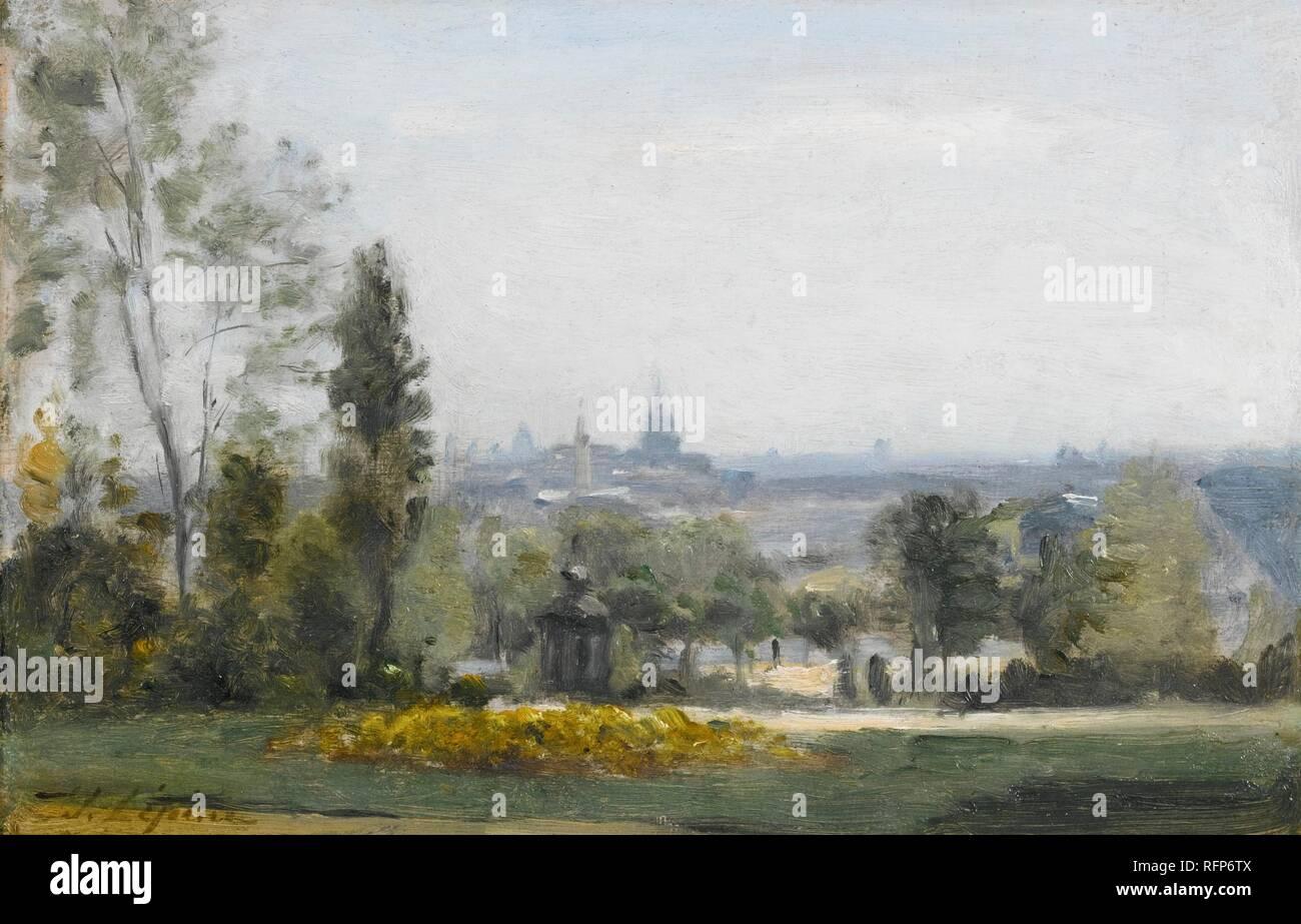 Stanislas Lpine (French, 1835-92), Le Parc Montsouris (1878-80).jpg - RFP6TX Stock Photo