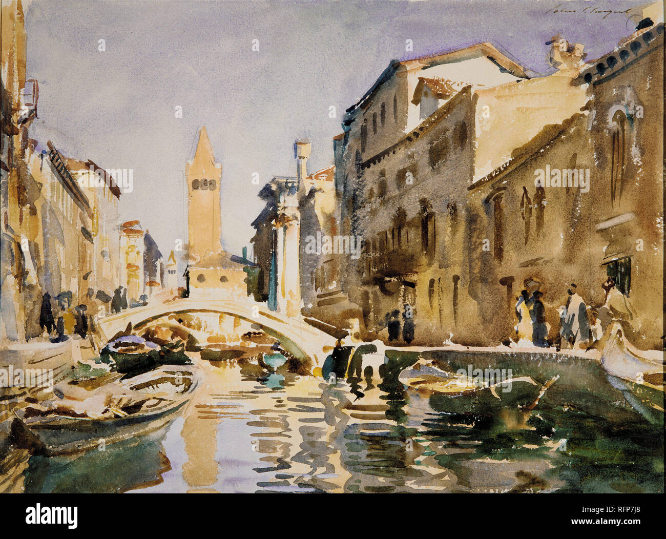Working Title/Artist: Venetian Canal Department: Am. Paintings / Sculpture Culture/Period/Location:  HB/TOA Date Code:  Working Date: 1913 scanned for collections - Stock Image