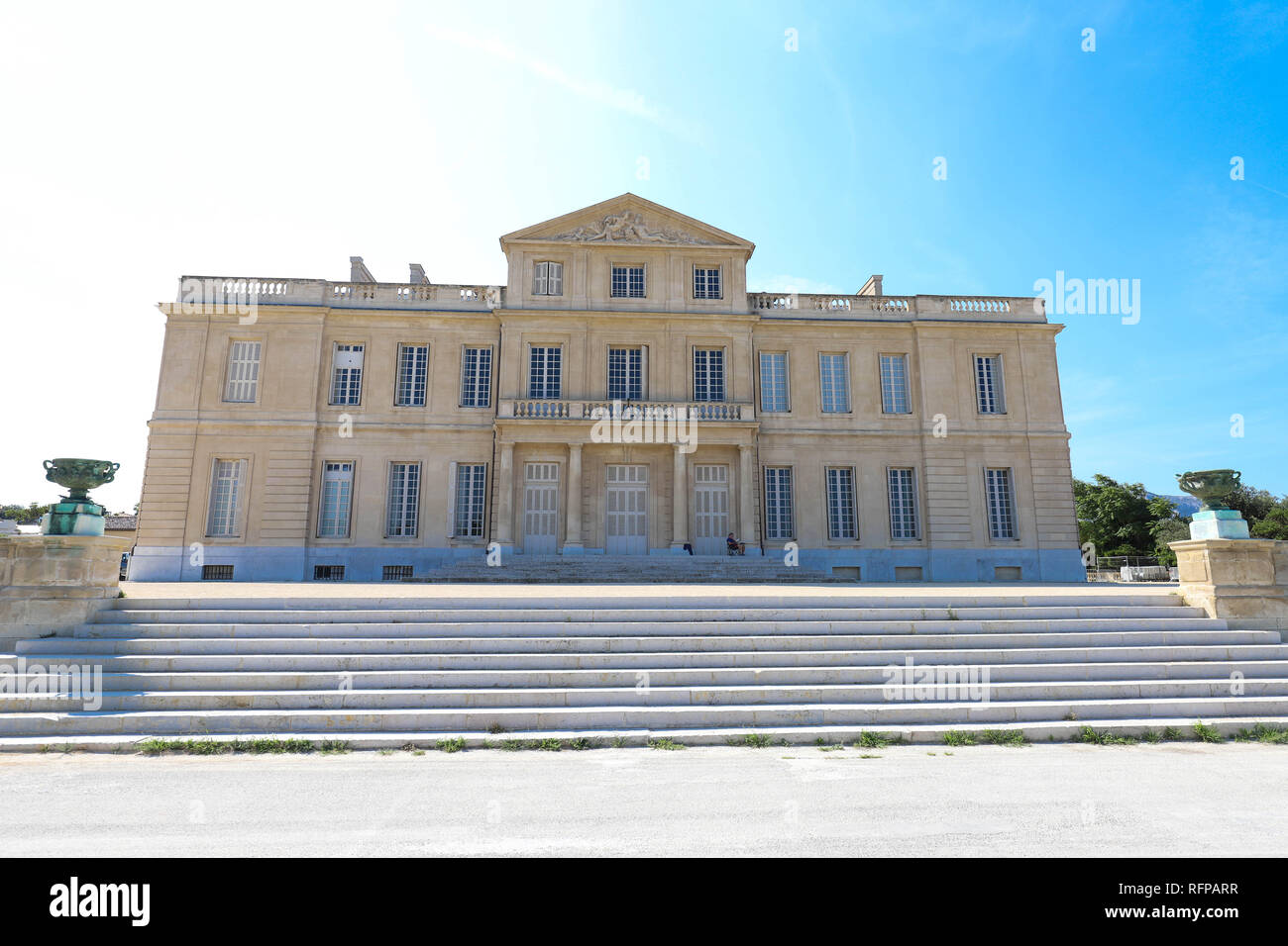 The Borely castle, a large eighteenth-century mansion located in the Borely public park, houses the Museum of Decorative Arts, Faience and Fashion . - Stock Image