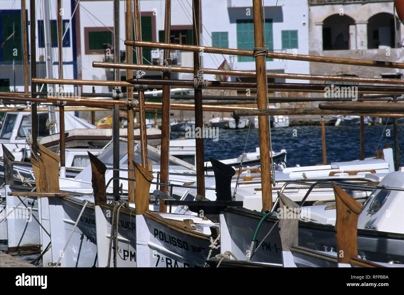 ESP, Spain, Balearic Islands, Mallorca: Portocolom. Stock Photo