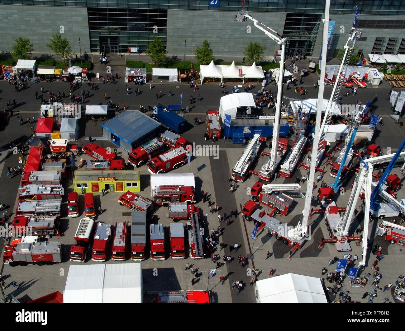 DEU, Federal Republic of Germany, Hannover : Hannover fairgrounds. Interschutz, world biggest exhibiton for fire services, - Stock Image