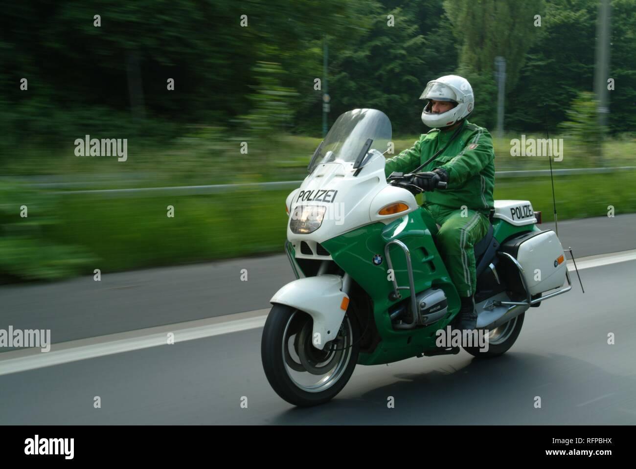 DEU, Germany, Duesseldorf : Police bike patrol. - Stock Image