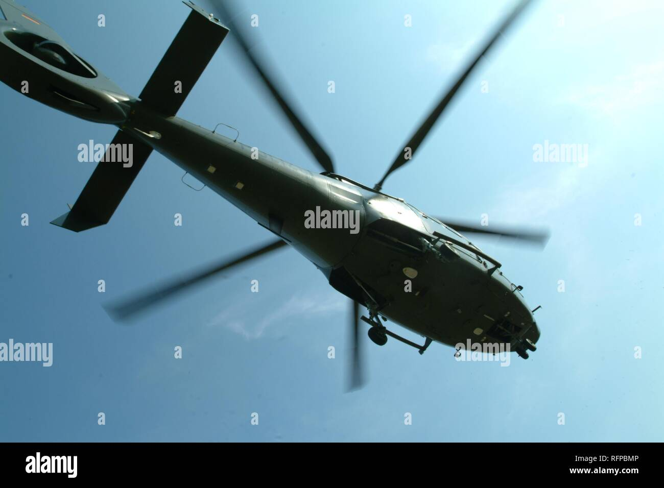 DEU, Germany, Duesseldorf: Eurocopter EC 155 transport helicopter, mostly in use by SWAT Teams. Police flying squad. Police - Stock Image