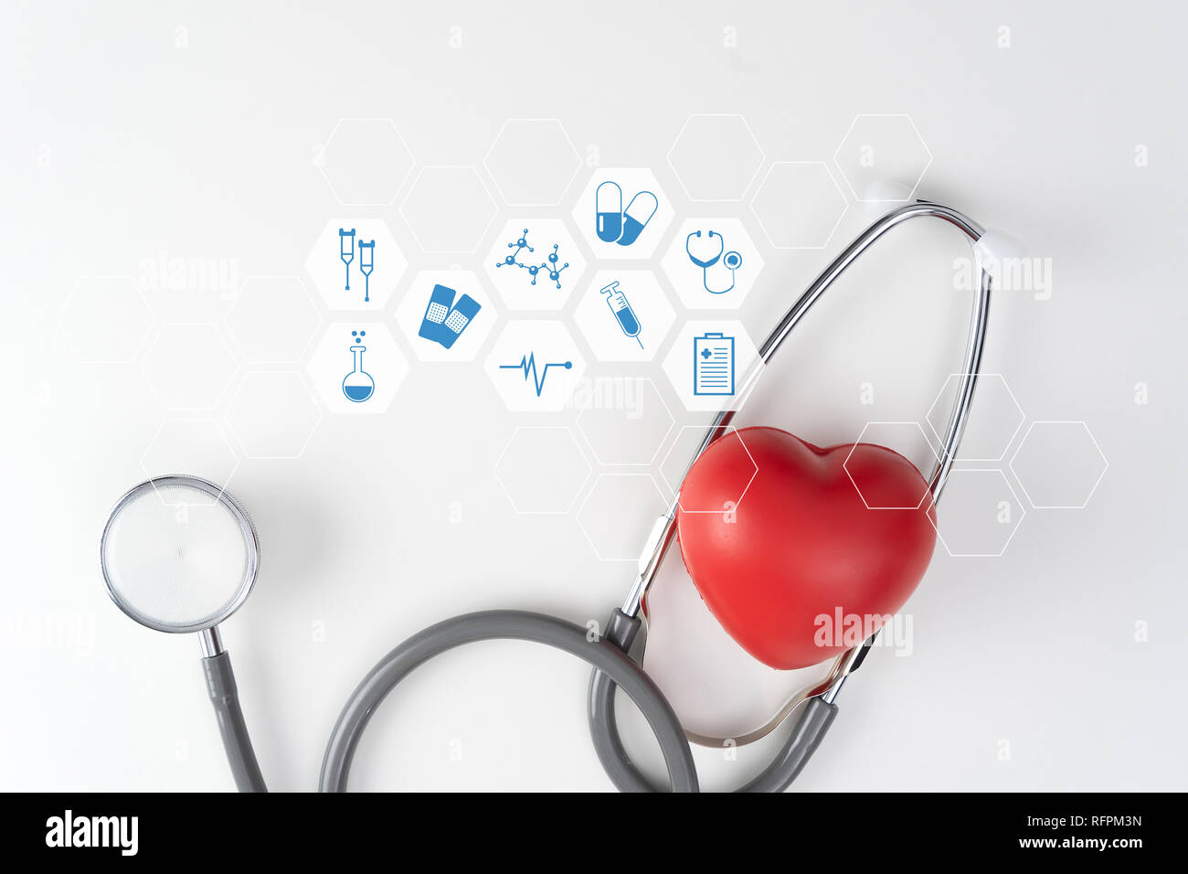 Health care and medical technology medical doctor working Healthcare