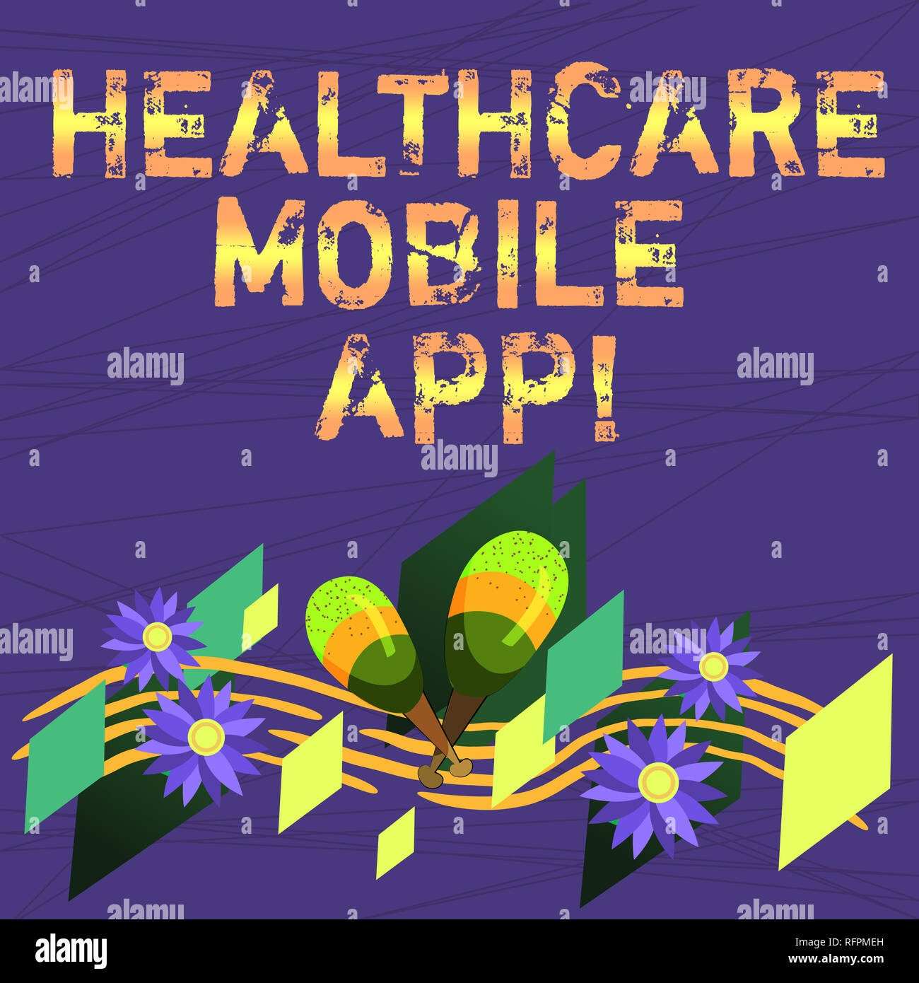 Conceptual hand writing showing Healthcare Mobile App  Business