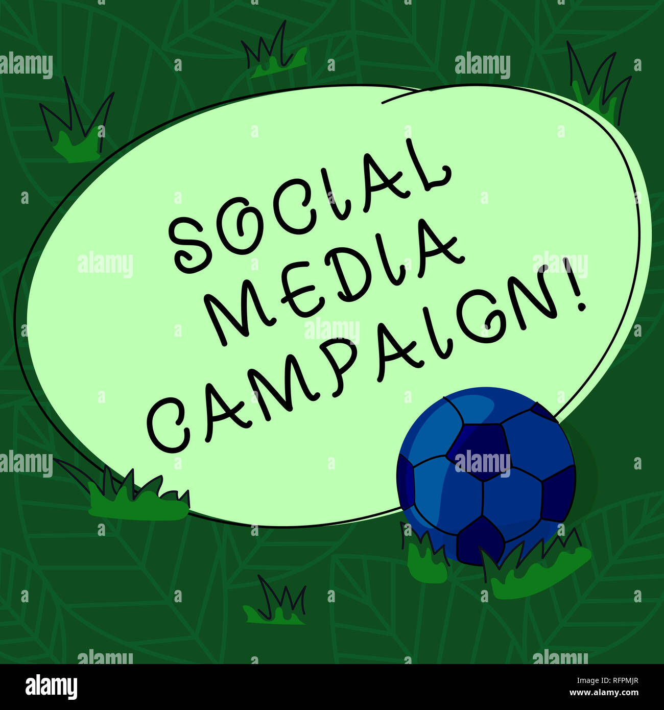 Handwriting text Social Media Campaign  Concept meaning Use of
