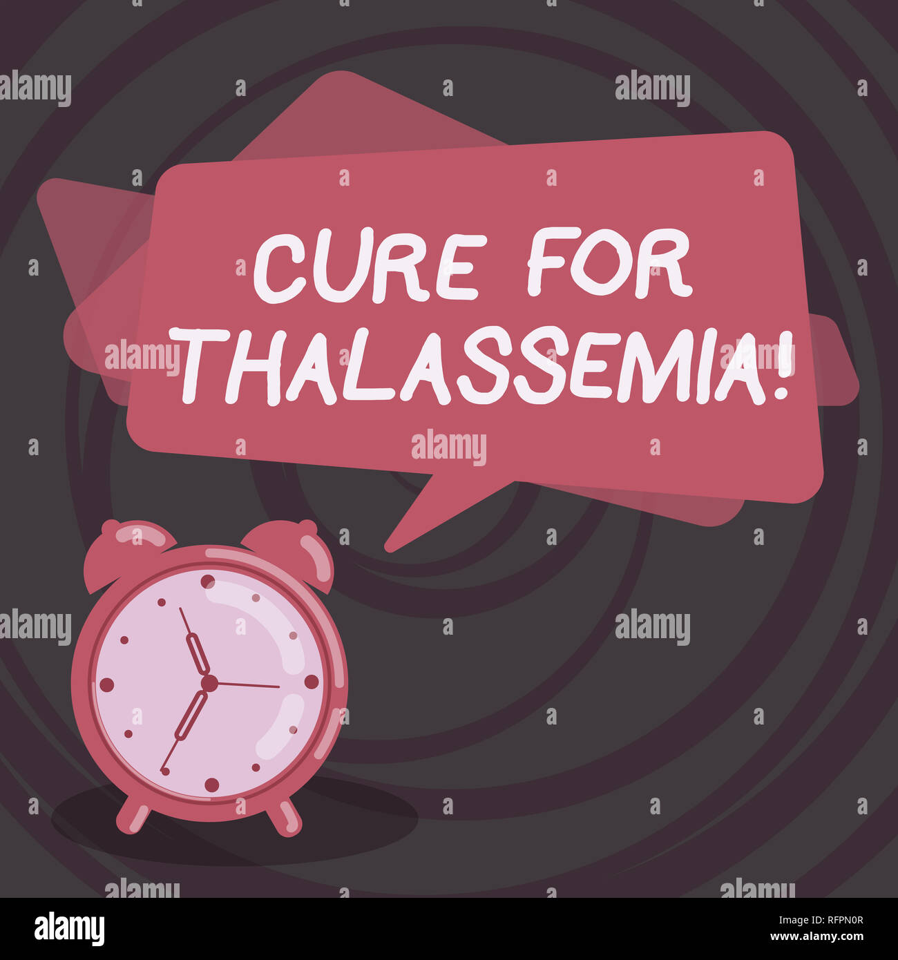 Word writing text Cure For Thalassemia. Business concept for Treatment needed for this inherited blood disorder Blank Rectangular Color Speech Bubble  - Stock Image