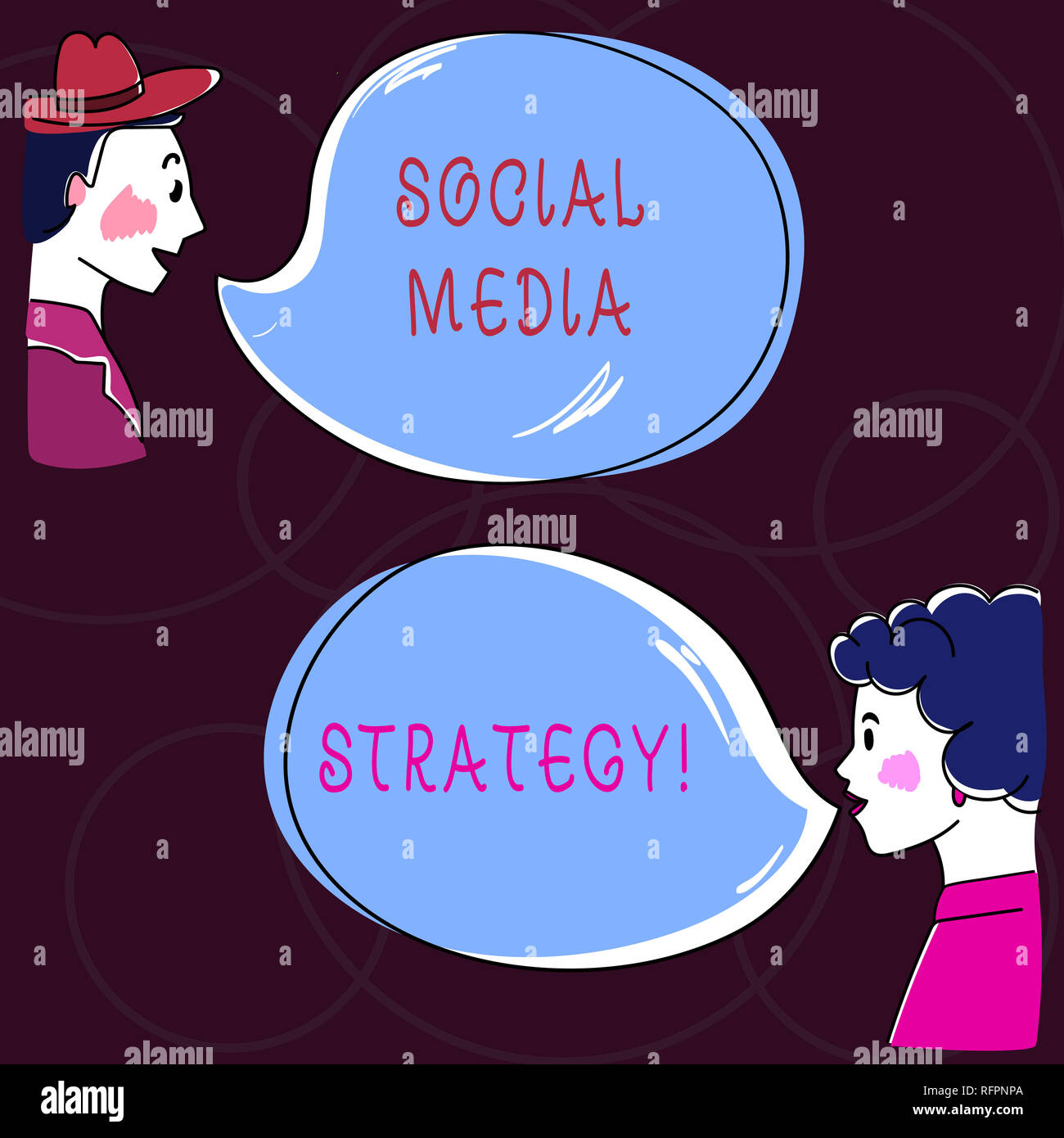 Conceptual hand writing showing Social Media Strategy