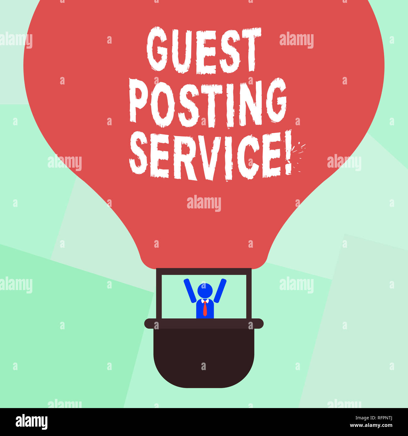 Conceptual hand writing showing Guest Posting Service