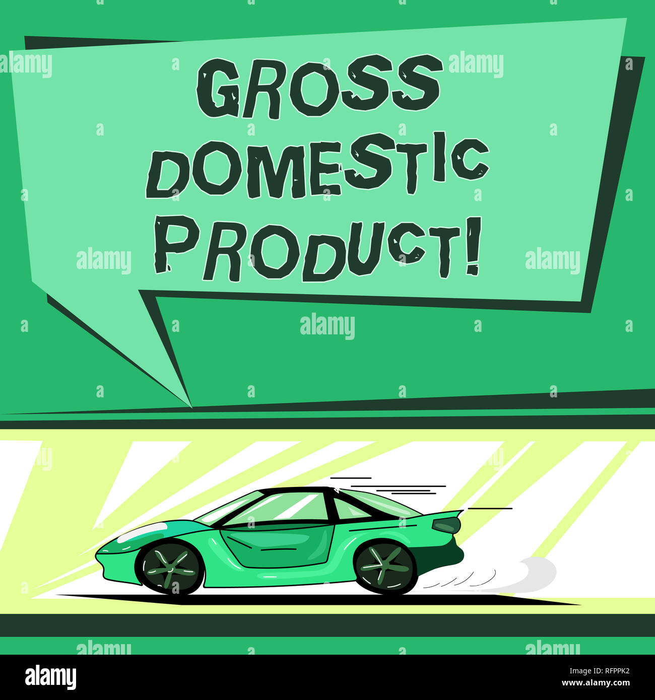 Text Sign Showing Gross Domestic Product Conceptual Photo Total
