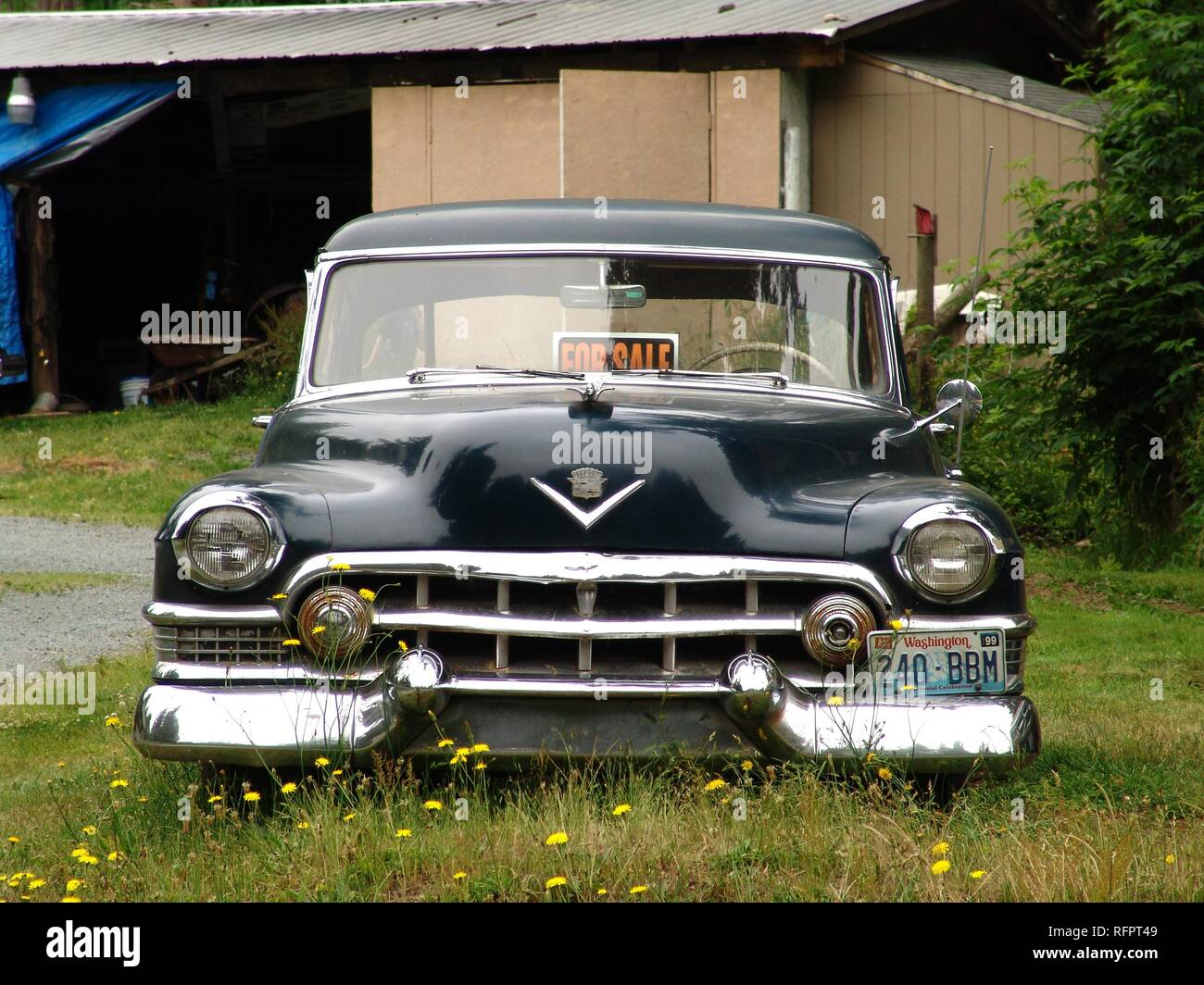 USA, United States of America : Old car for sale. Stock Photo