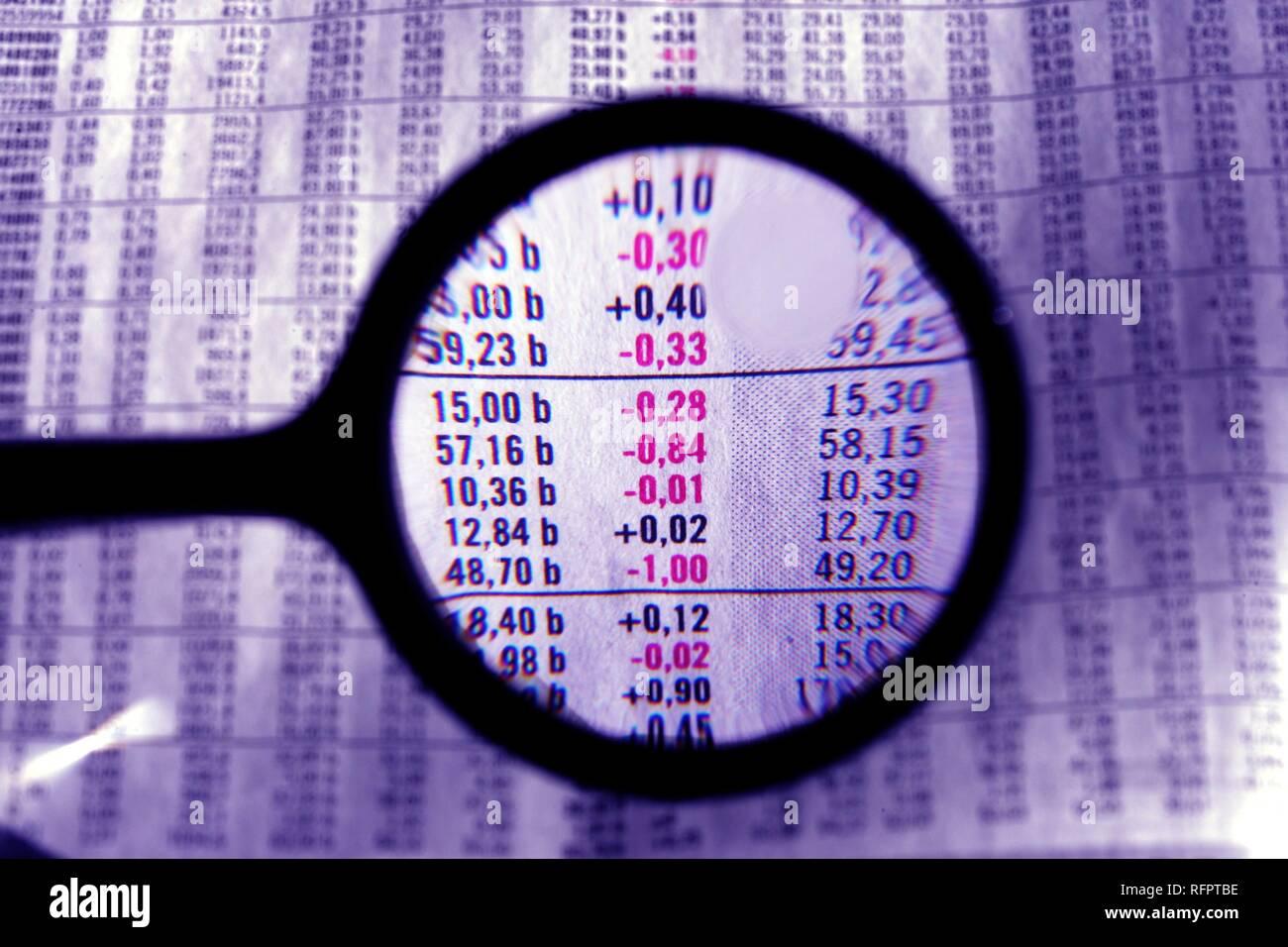 DEU, Germany : Symbolic photo economy Stock Photo