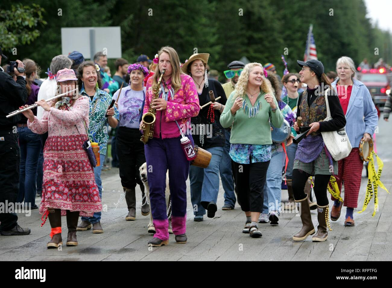 USA, United States of America, Alaska, Gustavus: 4th July, Independence day party in Gustavus, a village with 400 residents. Stock Photo