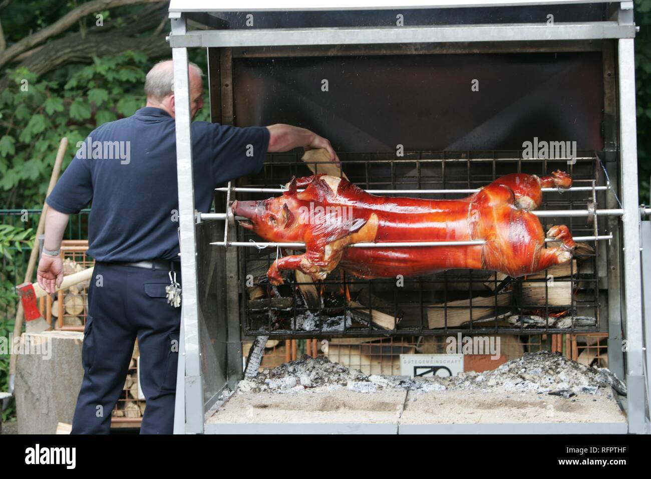 Open day at a volounteer fire brigade, Essen, Germany - Stock Image