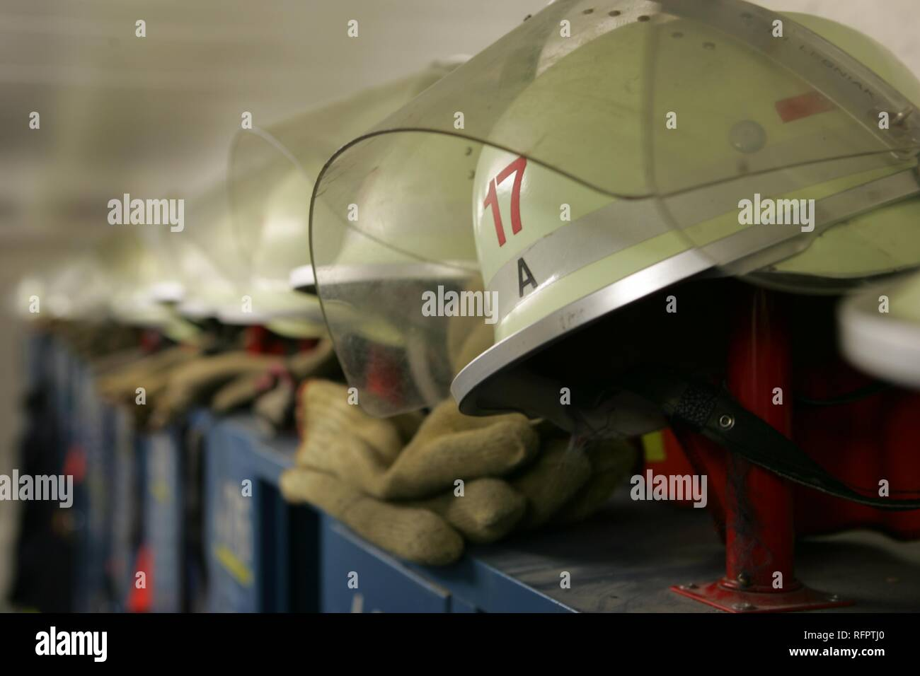 DEU, Federal Republic of Germany, Essen: Fire station of a volounteer fire brigade. Stock Photo
