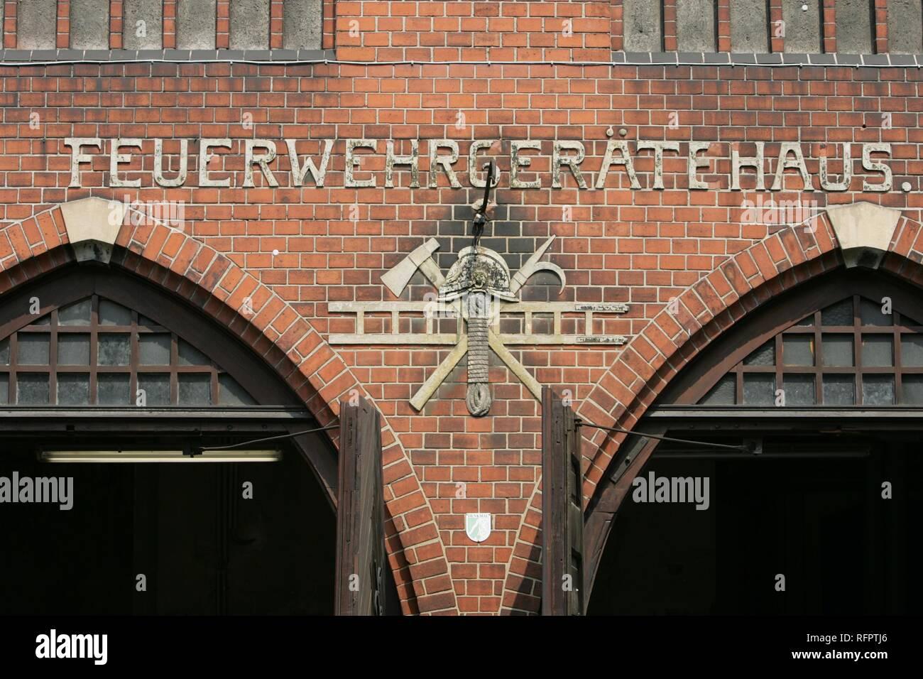 DEU, Federal Republic of Germany, Essen: Fire station of a volounteer fire brigade. Beer mugs. - Stock Image