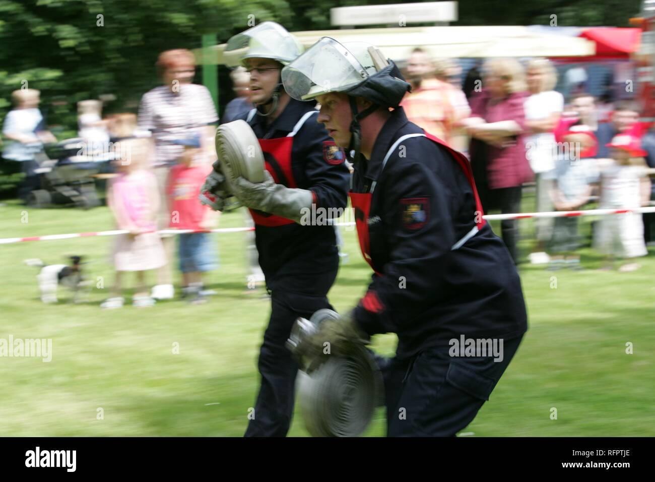 DEU, Federal Republic of Germany, Essen: Competition contest of volountee fire brigades. - Stock Image
