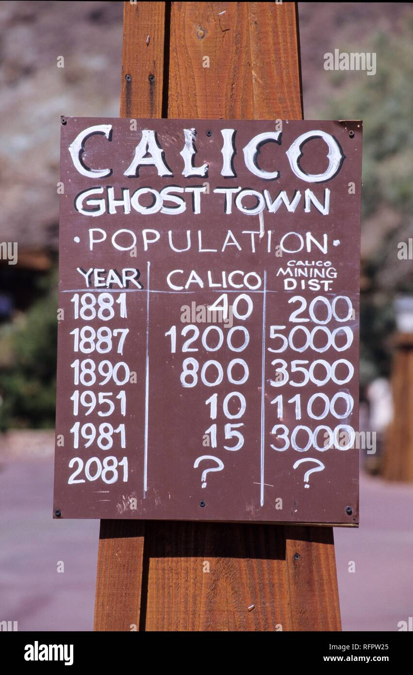 USA, United States of America, California: the Ghost Town Calico