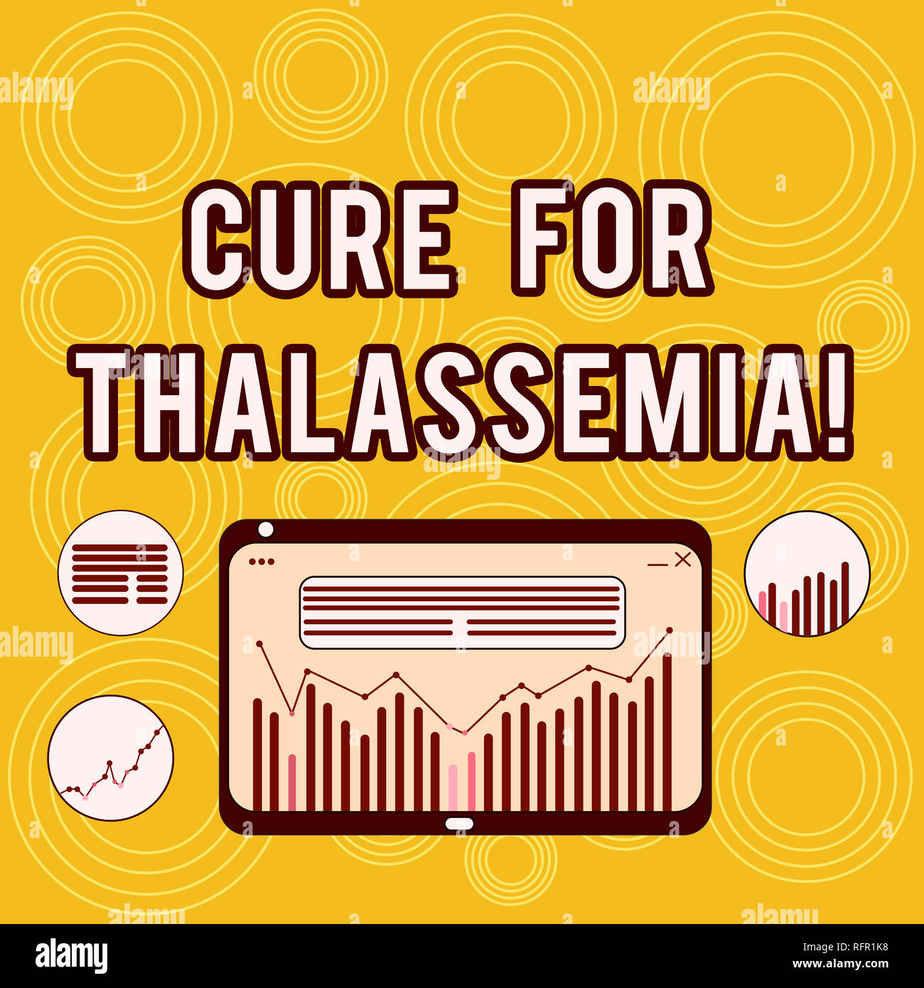 Writing note showing Cure For Thalassemia. Business photo showcasing Treatment needed for this inherited blood disorder Digital Combination of Column  - Stock Image
