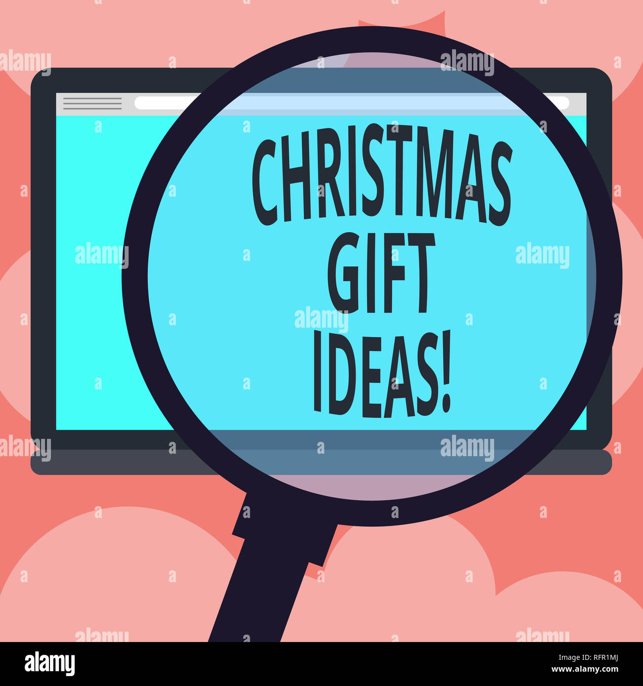 Writing Note Showing Christmas Gift Ideas Business Photo Showcasing Suggestion For Best Presents To Give In Christmas Day Magnifying Glass Enlarging Stock Photo 233460882 Alamy