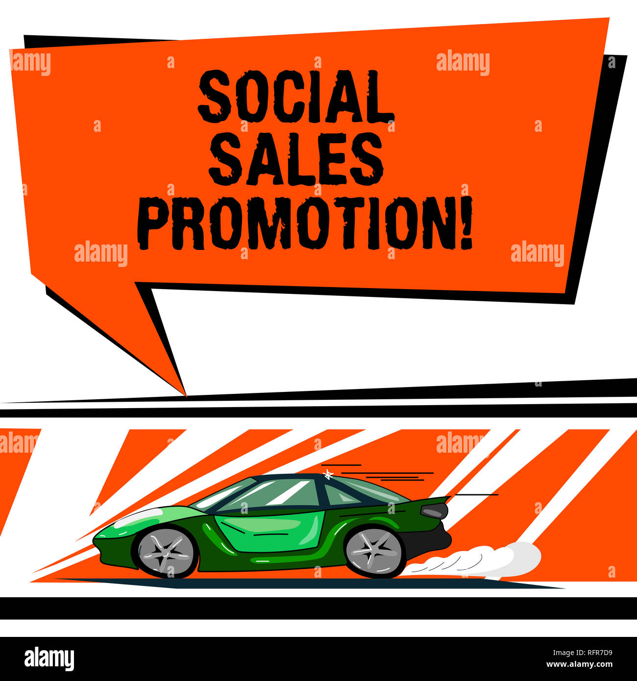 Word Writing Text Social Sales Promotion Business Concept For