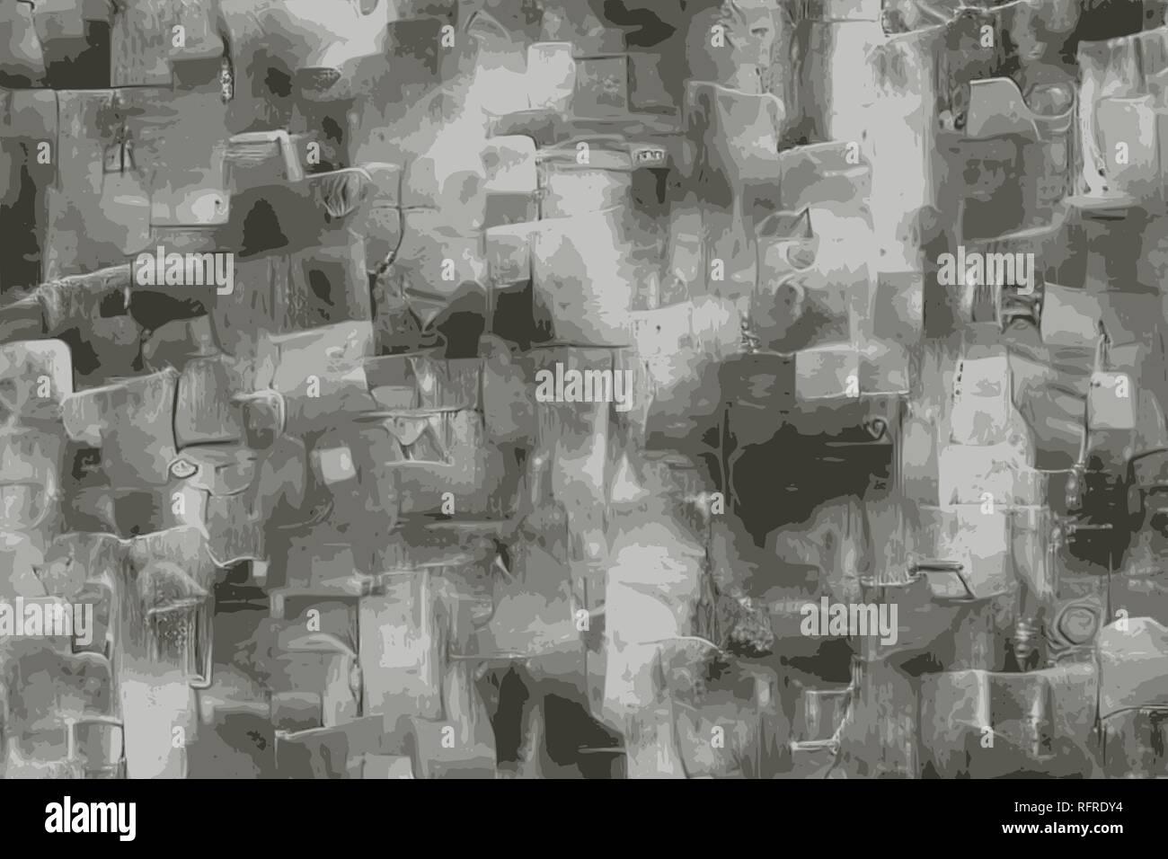 Limestone grunge texture, imitation of carbonate minerals - Stock Image