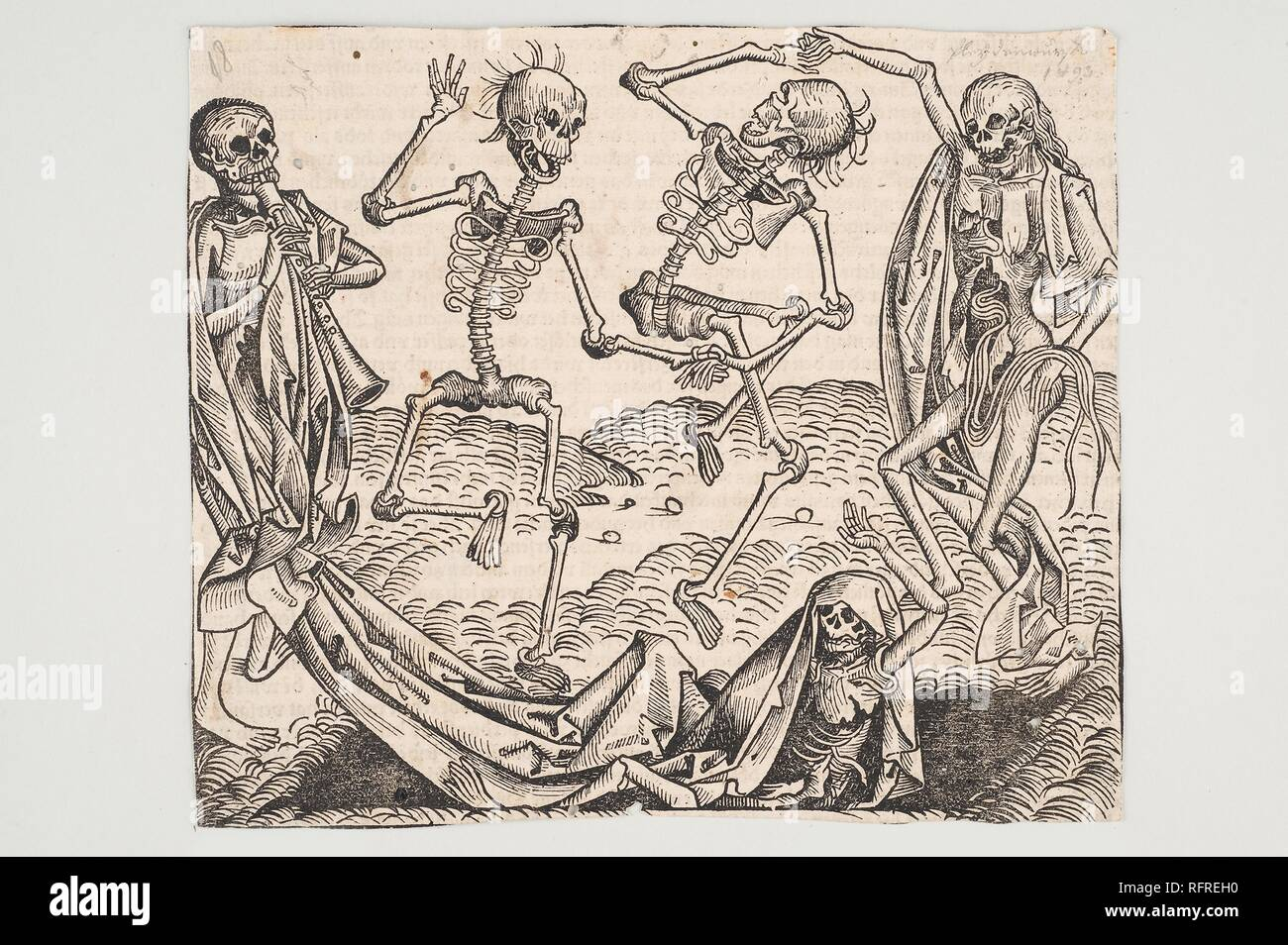 Dance of Death (from the Schedel's Chronicle of the World). Museum: Universalmuseum Joanneum. Author: WOLGEMUT, MICHAEL. - Stock Image