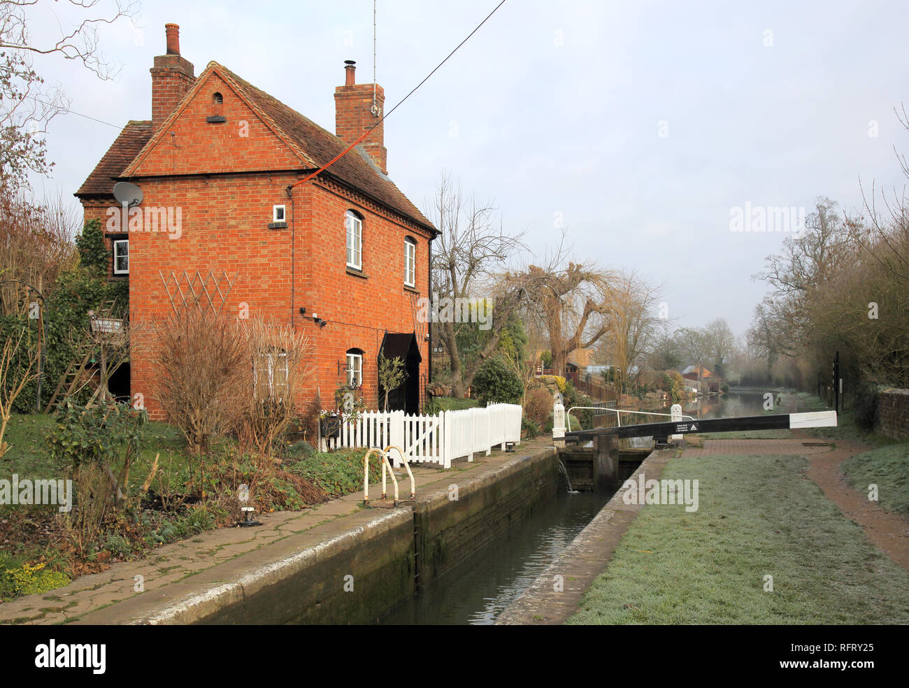 lock on the oxford canal at cropredy in oxfordshire - Stock Image