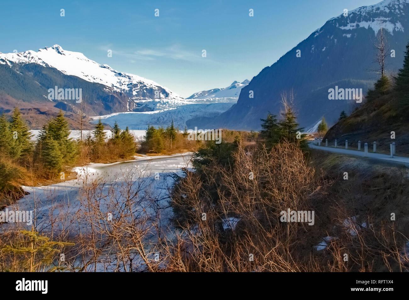 Mendenhall Glacier Alaska - Stock Image