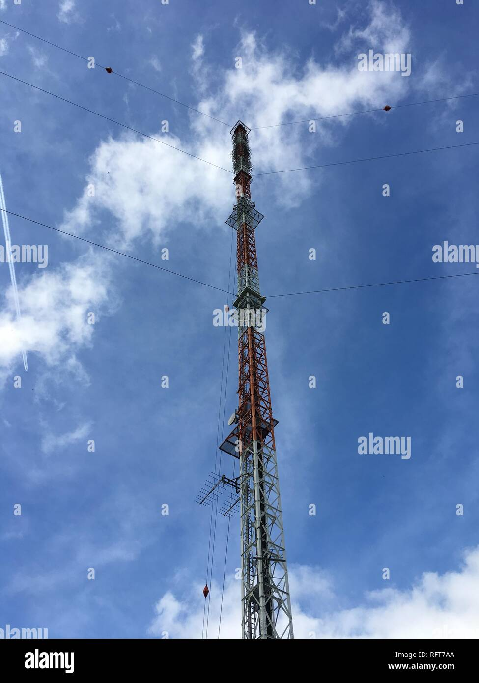 Antenna for radio broadcasting Stock Photo