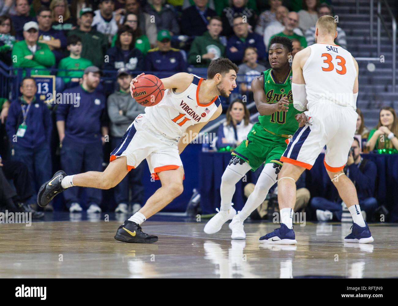 Jack Salt Virginia Cavaliers Basketball Jersey - Navy