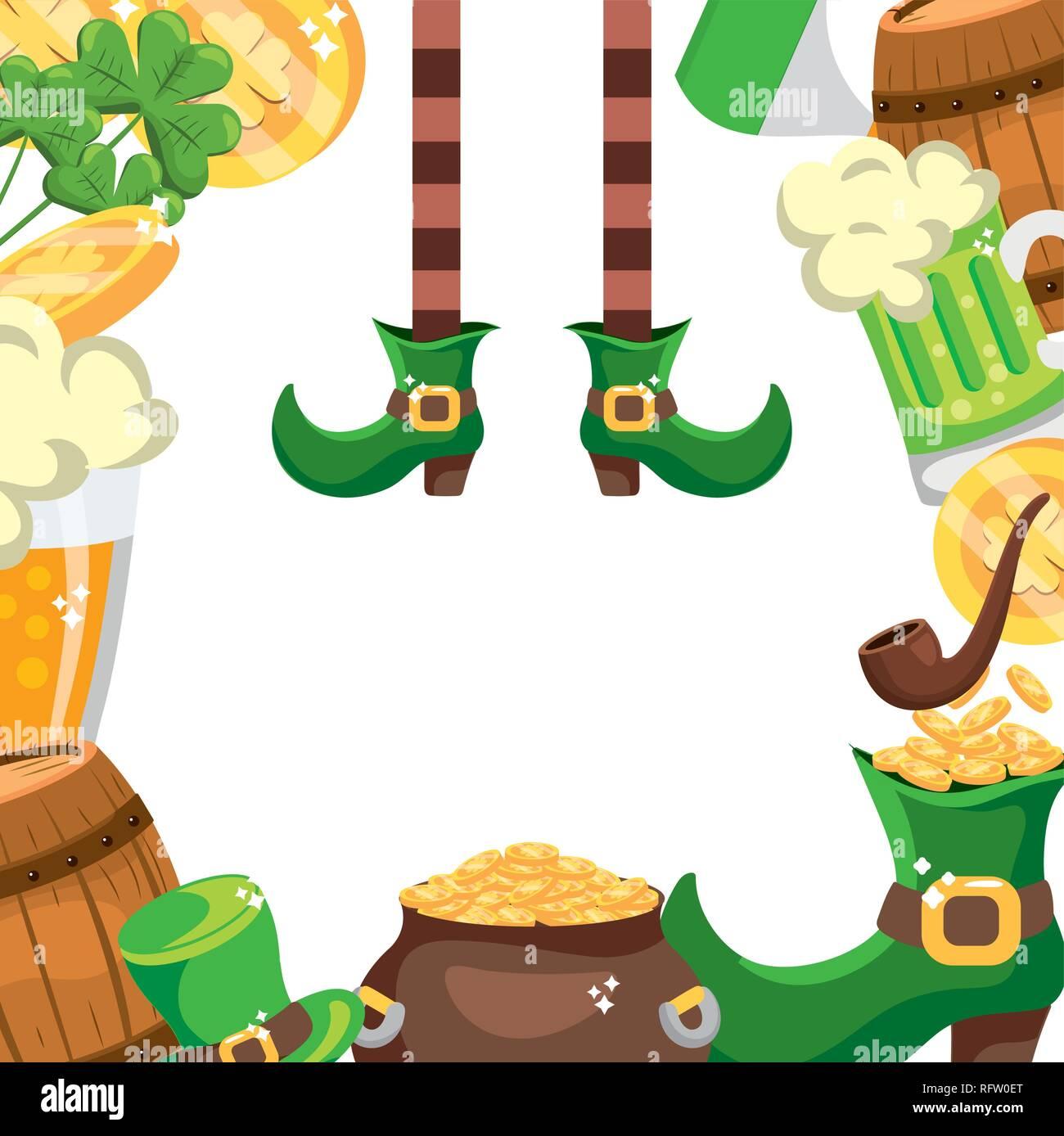 leprechaun items frame - Stock Image
