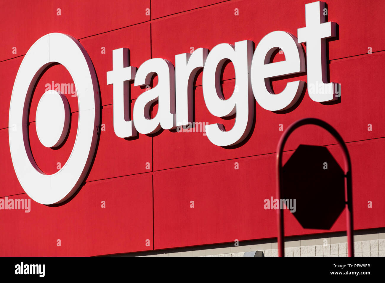 A Logo Sign Outside Of A Target Retail Store Location In