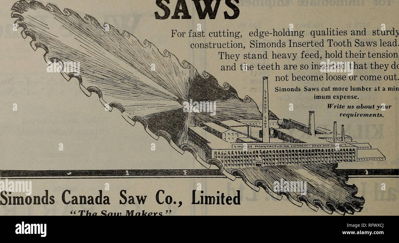 Canadian forest industries July-December 1921  Lumbering