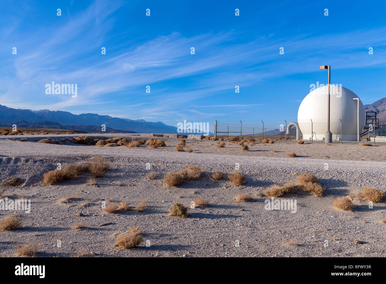Dome shaped building, part of the Owens Lake Project in California, USA - Stock Image