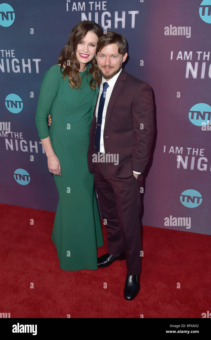 Jamie Anne Allman and Marshall Allman attending the TNT series premiere of 'I Am the Night' at Harmony Gold on January 24, 2019 in Los Angeles, California. - Stock Image