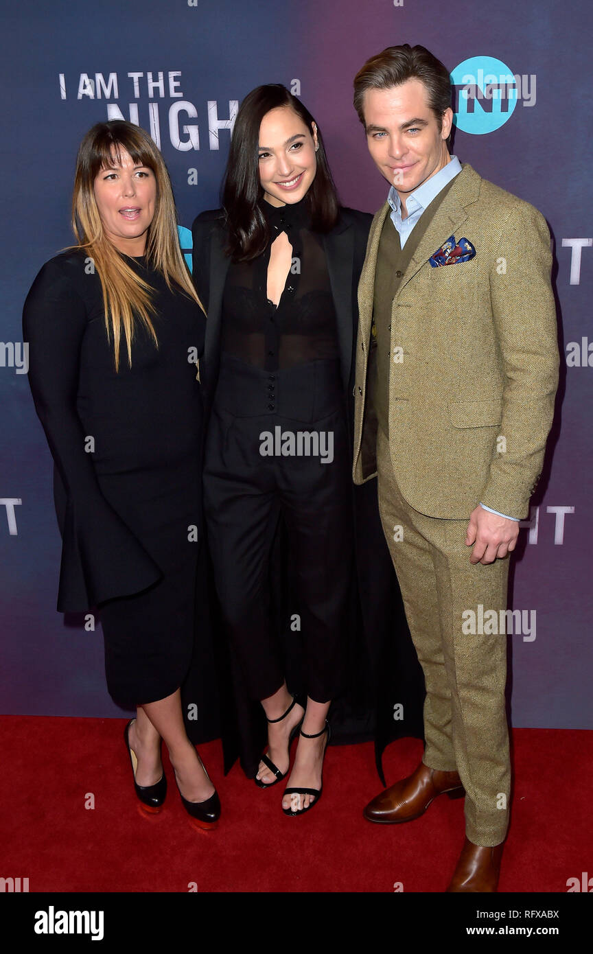 Patty Jenkins, Gal Gadot and Chris Pine attending the TNT series