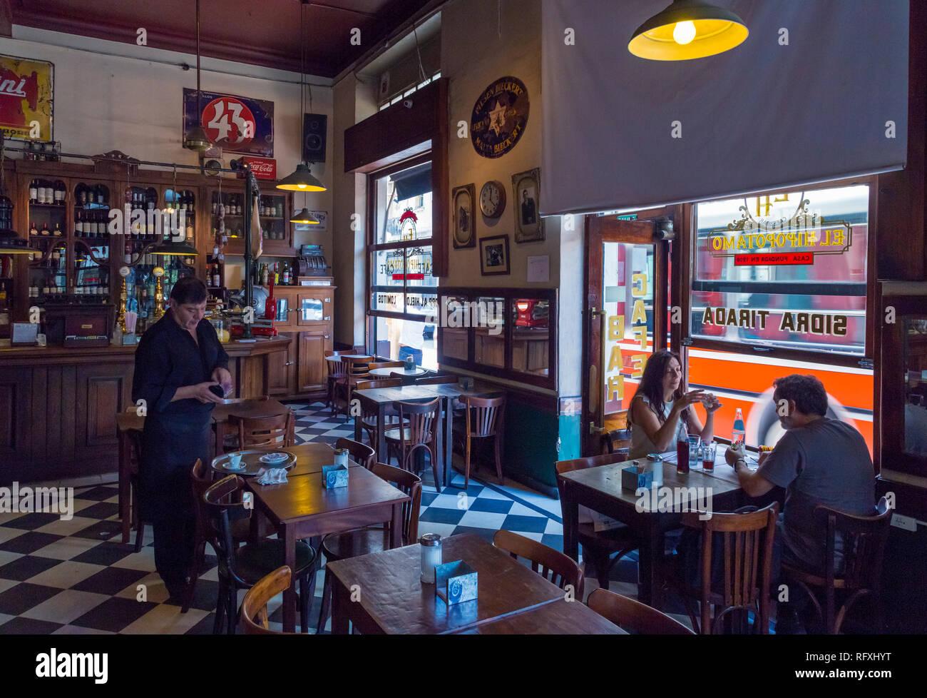 Bar 'El Hipopotamo' (Hipopotamus Cafe). San Telmo, Buenos Aires, Argentina. - Stock Image